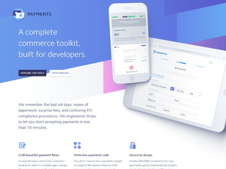 Along with a new homepage we also launched an updated overview of all our payments features today. Check it out