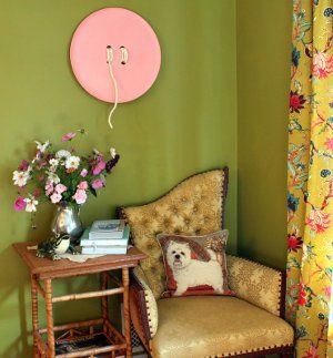 Make giant button wall art!   This would be so cute in a craft, sewing or child's room!