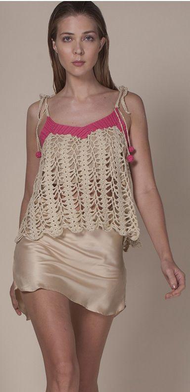 Agostina Bianchi crochet top