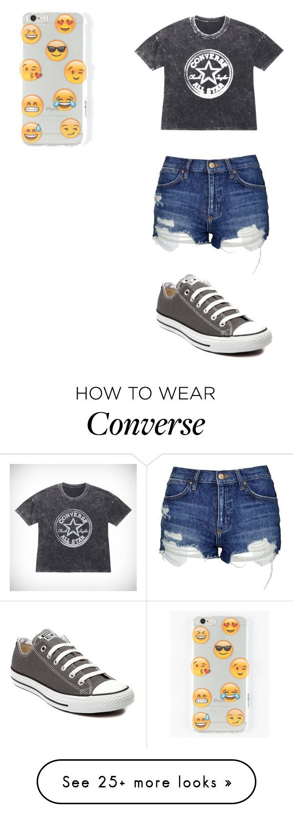 """""""Converse and emojis"""" by johannaelyce on Polyvore featuring Topshop, Converse and Ankit"""