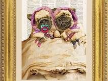 Bulldog illustrazione, stampa, pagina dizionario V