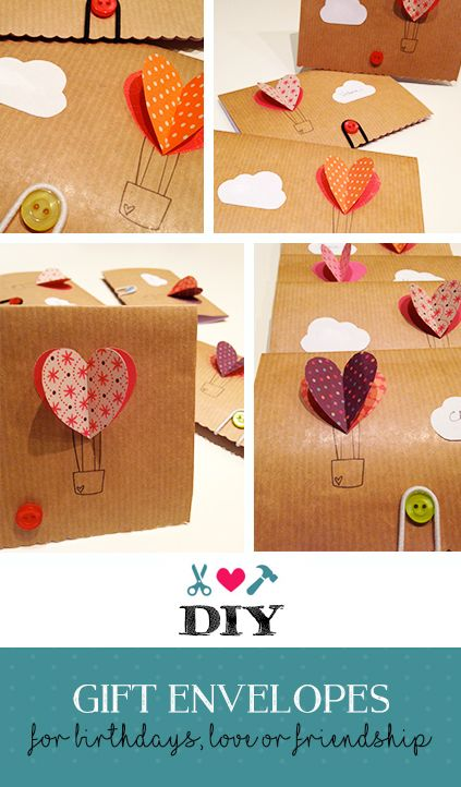DIY gift envelopes - a nice idea for your birthday, love or friendship card