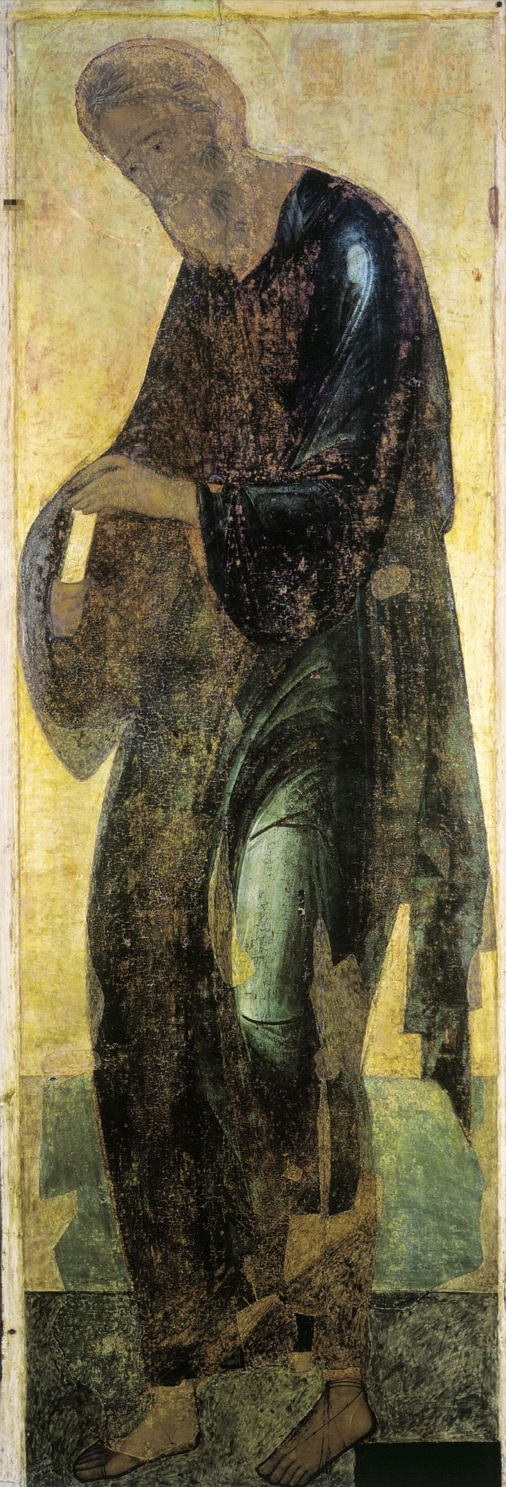 SFANTUL ANDREI , PATRONUL ROMANIEI ( DACIA ) , PRIMUL CHEMAT !   Andrei Rublev - St. Andrew the First-called, 1408 (Dormition Cathedral, Vladimir)