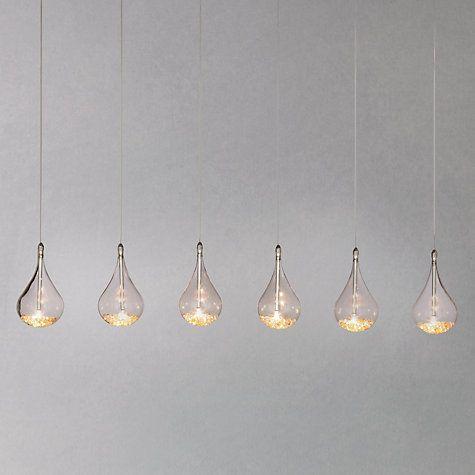 Buy John Lewis Sebastian Linear 6 Light Semi Flush Ceiling Online At Johnlewis Living Room