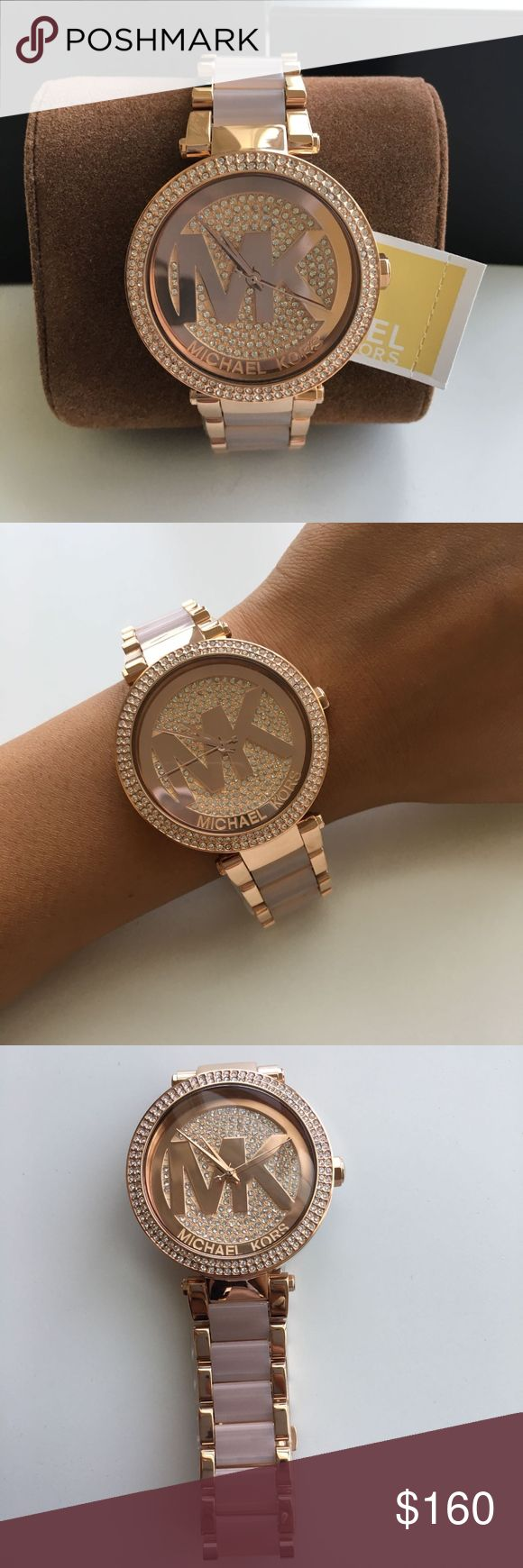BRAND New Michael Kors Women's Watch MK6176 BRAND NEW MICHAEL KORS IN THE ORIGINAL BOX WITH THE TAG.  Parker Crystal Pave Log Dial Rose Gold-Tone Ladies Watch MK6176 Case Size : 39mm Michael Kors Accessories Watches