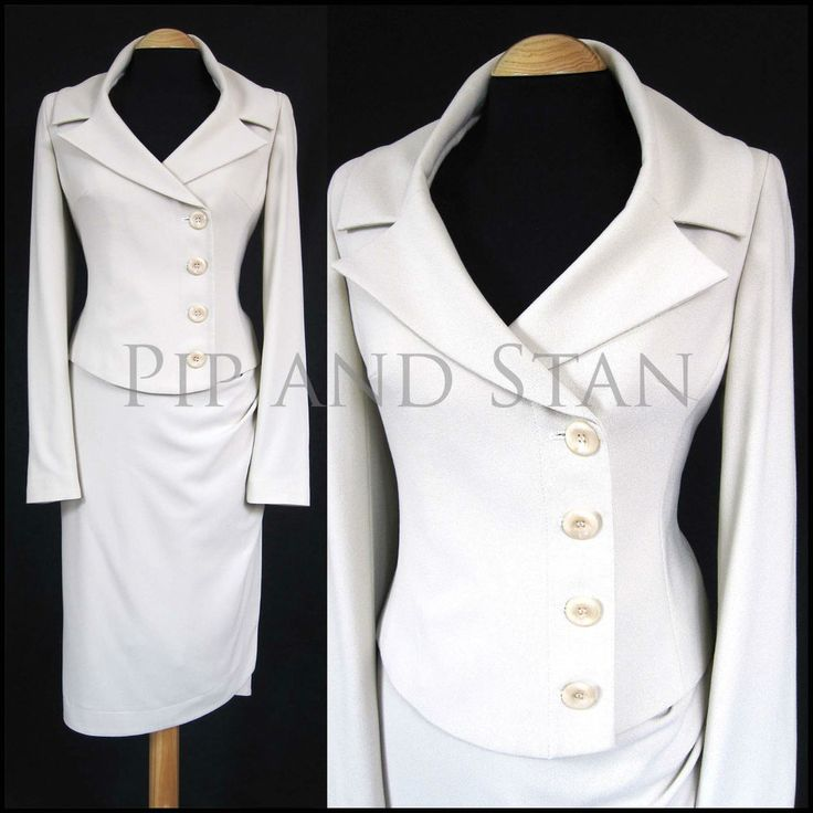 NEXT UK10 US6 CREAM PENCIL SKIRT SUIT 50S VINTAGE INPSIRED WOMEN LADIES SIZE #Next #SkirtSuit #SpecialOccasion