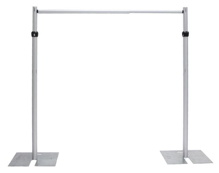 Pipe Drape Set X Base Upright Crossbar Backdrop Stand