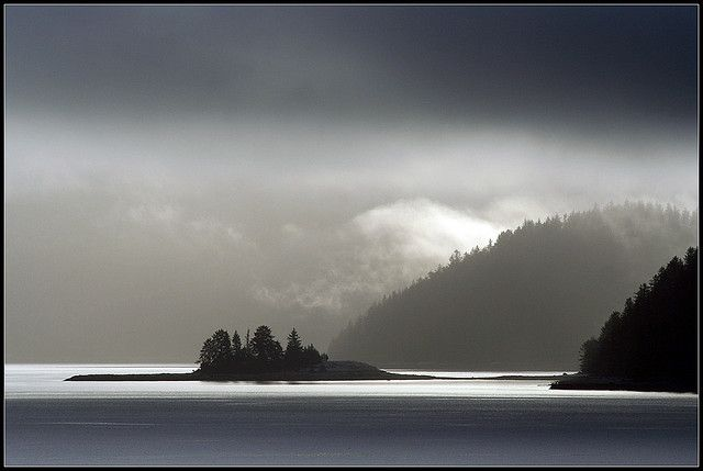 Haida Gwaii by cc49, via Flickr Looking across Bearskin Bay toward South Moresby, with the tip of Maude Island on the right