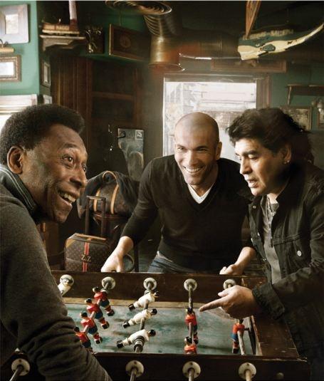 Annie Leibovitz:  Pele & Zinedine Zidane & Maradona  (Louis Vuitton) wow, the people she has met...so amazing...