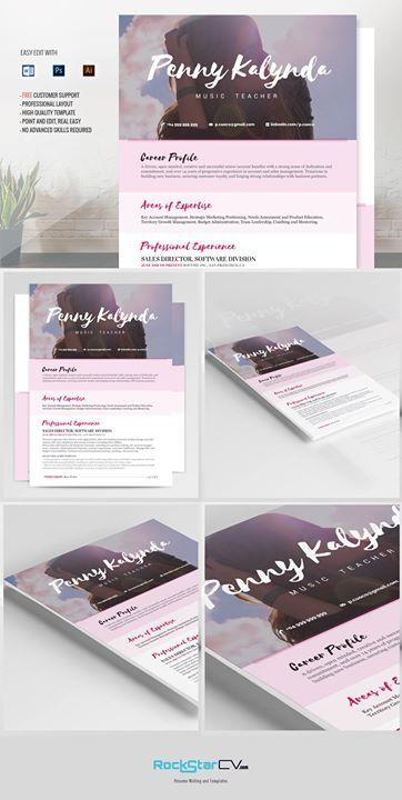 Resume Template Kalynda http://rockstarcv.com/product/resume-template-kalynda/