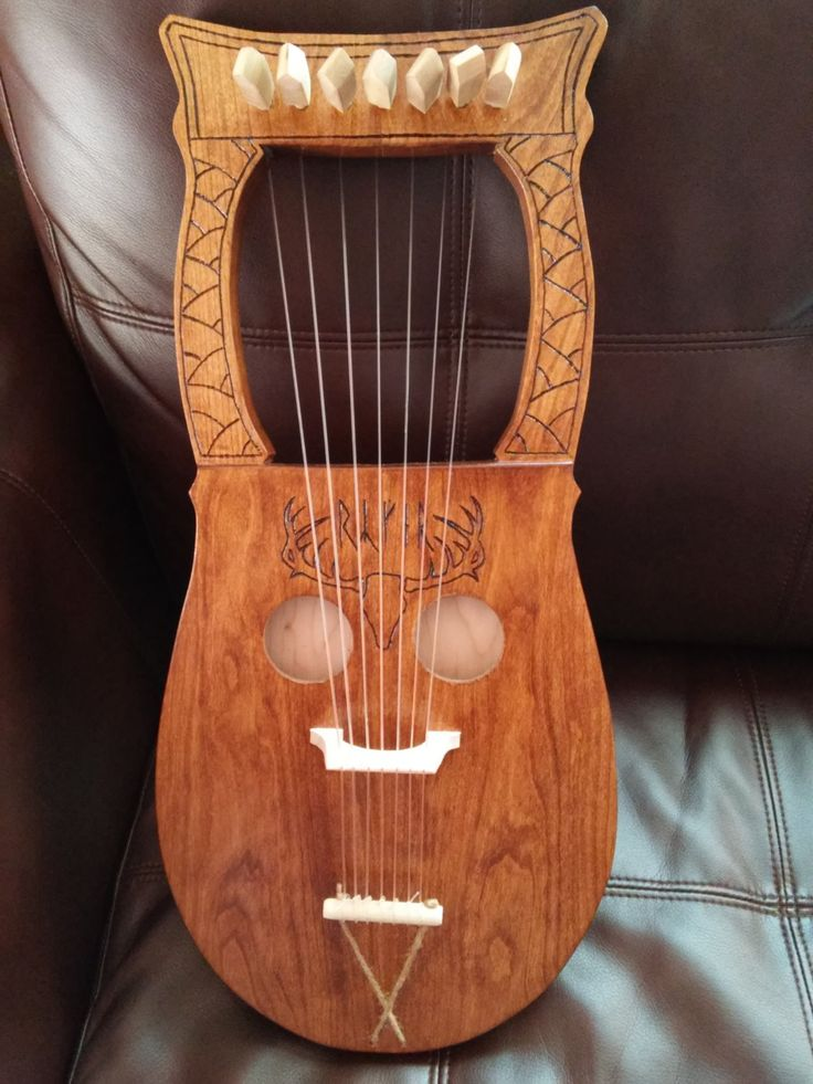 Traditional Kravik Lyre 7 string by Staghelm on Etsy