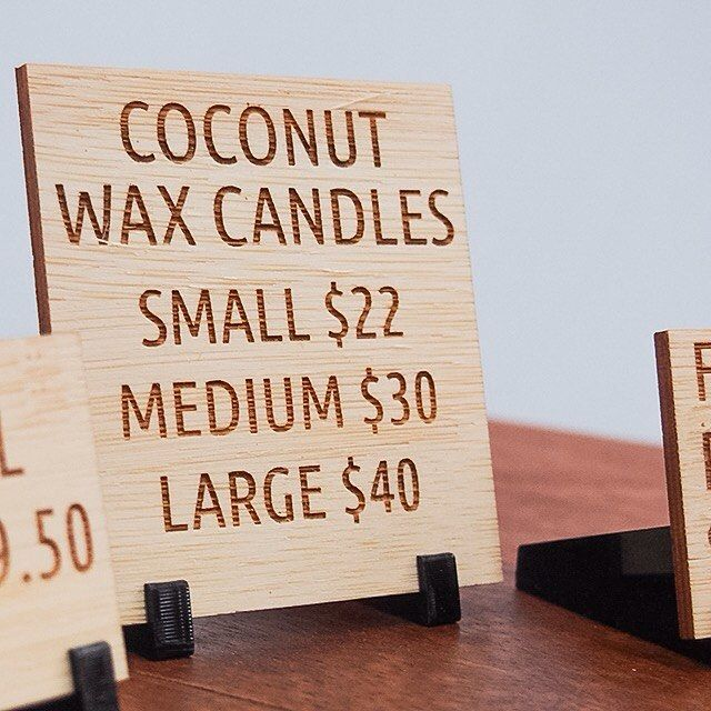 POS stands for @cleansewithbenefits laser etched on 2.5mm bamboo w/ acrylic stands in black  #printonwood #design #wood