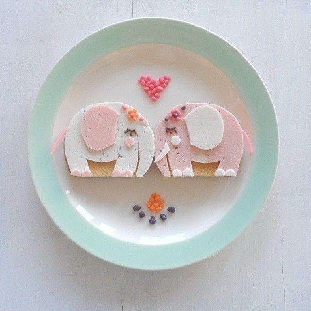 Love it #inspiration #kids #lunch #elephants