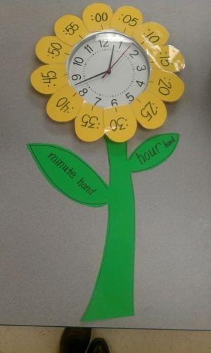 Flower Learning Clock