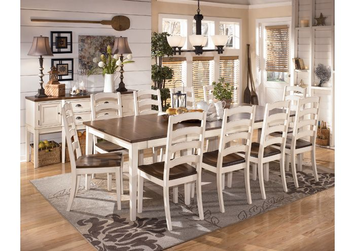 Whitesburg Rectangular Extension Table 10 Side ChairsSignature Design By Ashley Dining Room