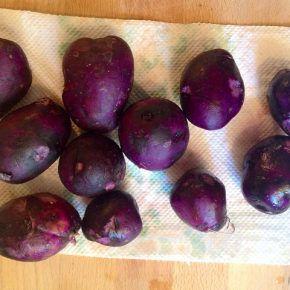 Salată din cartofi violet (de la 8 luni)