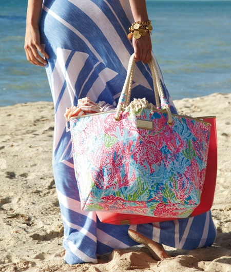 Lilly Pulitzer Summer '13- Shoreline Tote in Lets Cha Cha