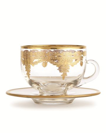 Impress your in-laws with these hand-etched 24-karat gold glasses