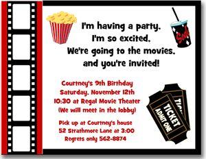 movie ticket template | Movie Themed Birthday Party Invitation Ideas | New Party Ideas