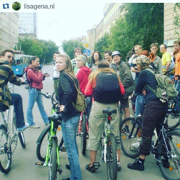 #Repost @lisagena.nl  Велоэкскурсия от Пушкинской до юго-запада и обратно к Пушкинской#bici #bicicleta #sommer #bicycle #велосипед #велодорожка #велоэкскурсия #помосквенавелосипеде # gobar gaya rusia at summer