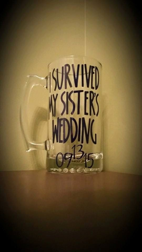 I Survived My Sister's/Brother's Wedding BEER by ByJusteenCrafts