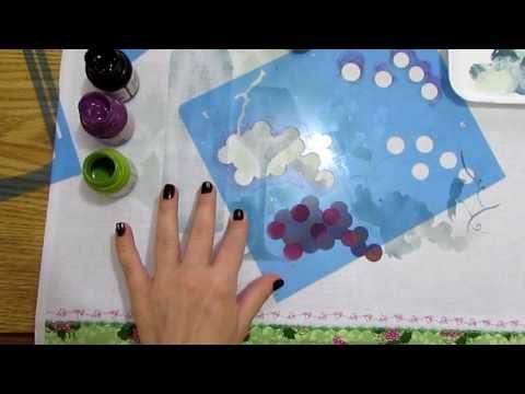 Dica de Projeto Uva com Stencil - YouTube