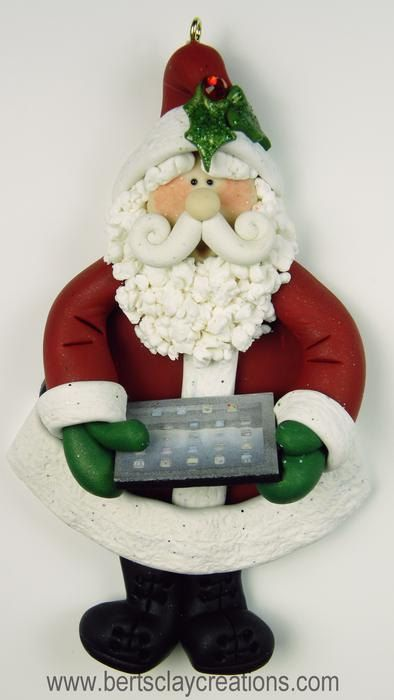 Ornament - IPad Santa