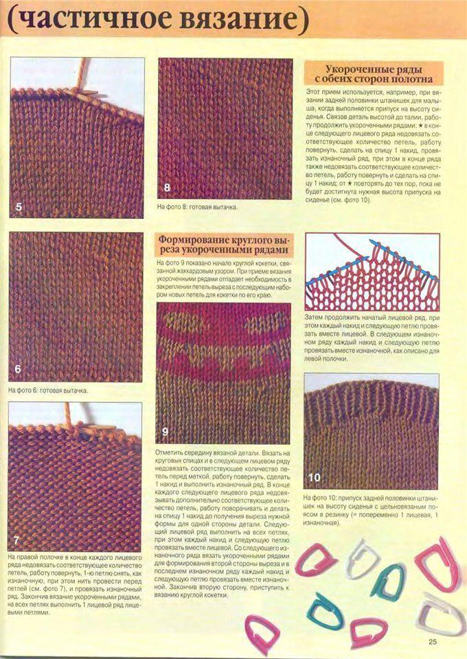 Как вязать укороченными рядами - Модное вязание