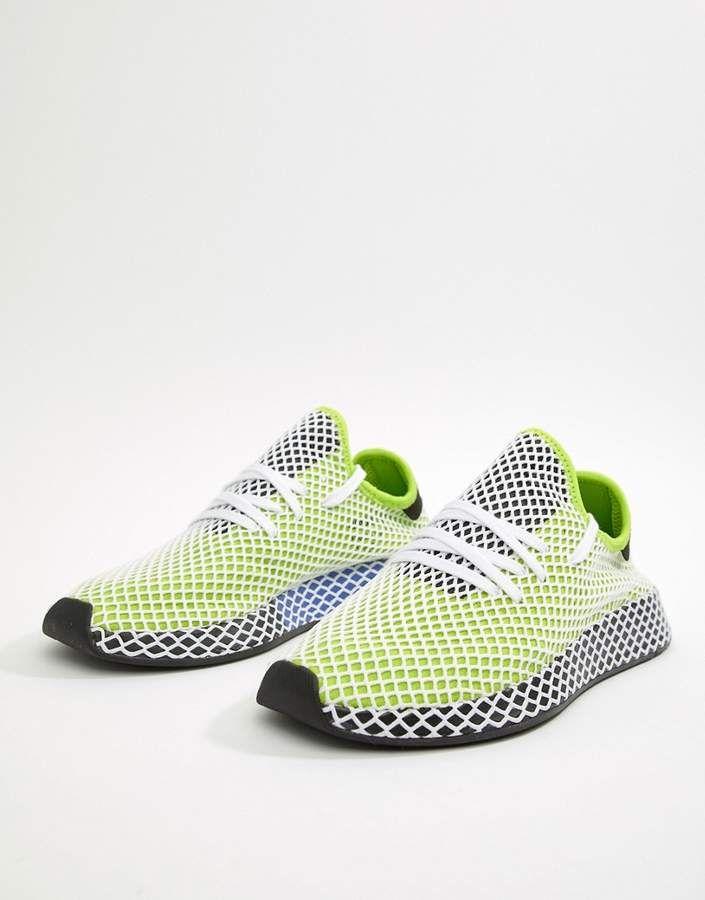 d178b0f86b3fa adidas Originals Deerupt Runner Sneakers In Green B27779