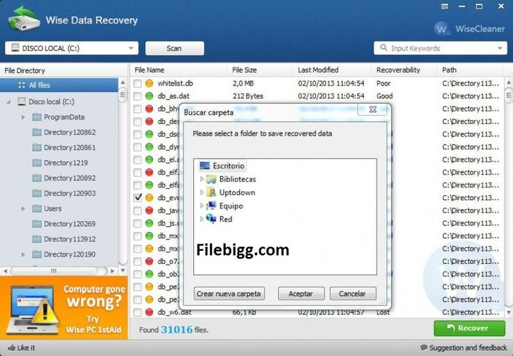 Free Download Software Wise Data Recovery 3.82 - filebigg.com