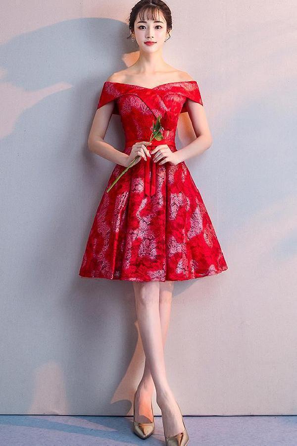 Homecoming Dress Red Lace Prom Dresses Prom Dresses Short Red Lace Prom Dresses Homecomingdressred Red Vestidos De Fiesta Vestidos De Encaje Dresses Short