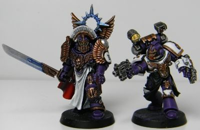 Emperors Children Legion Preator & Apothecary w/ Artificer-Armour.