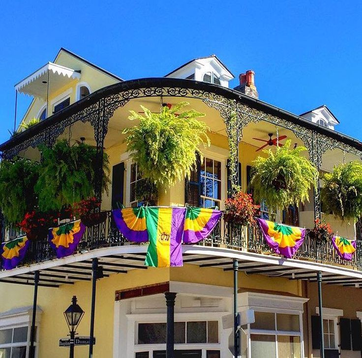Balconies all around the French Quarter are dressed for Carnival season. (Photo provided by davidnola via Instagram)