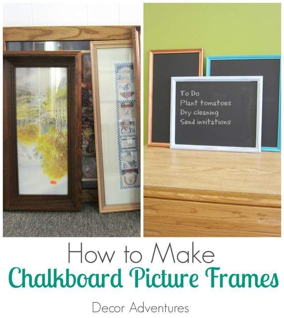 how to make chalkboard picture frames