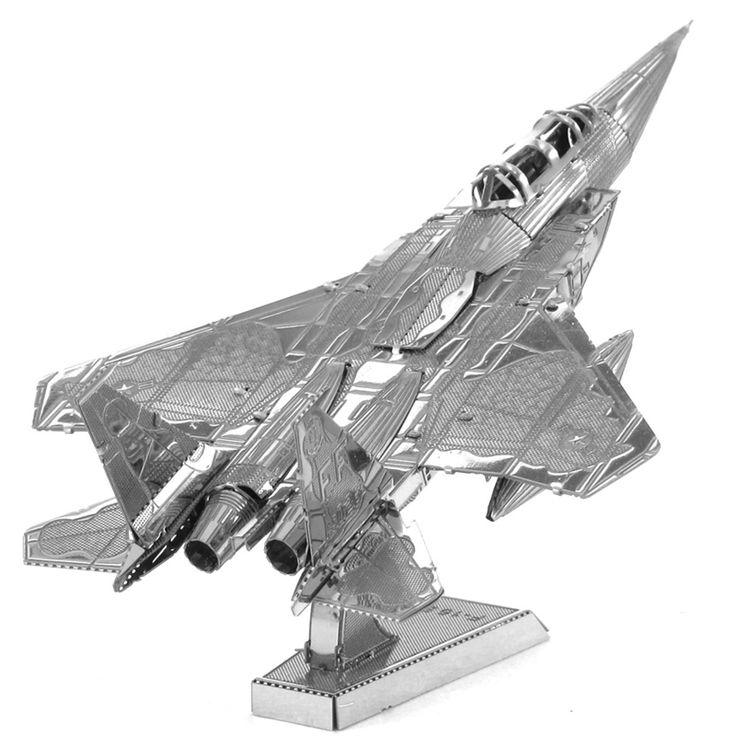 F-15 Eagle Fighter Airplane Fun 3D Metal DIY Miniature Model Kits Puzzle Toys Children Educational Boy Splicing Science Hobby //Price: $19.77 & FREE Shipping //     #Brickweapon #Toysforboys #Legoguns #Guns #Toys #Brickarms #Fun #Brickwarriors #Rifles #Shotguns #Gifts