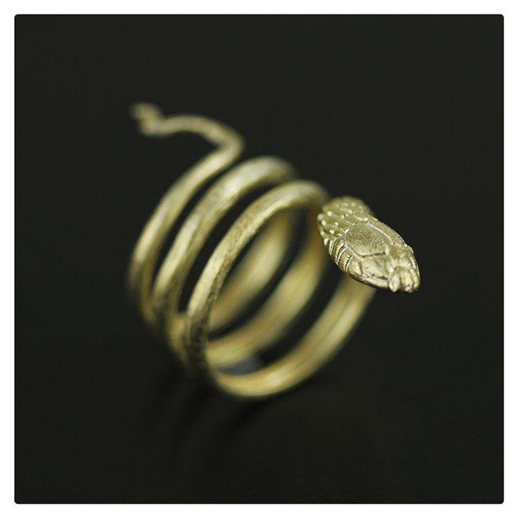 эксклюзив ручная работа кольцо змея. античные женские ювелирные изделия серебро 925 кольцо змейка мода аксессуары женские новый год украшения Винтаж ювелирные изделия необычные распродажа