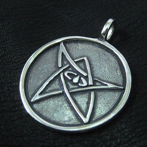 Silver Elder Sign pendant from The Sunken City by DaWanda.com