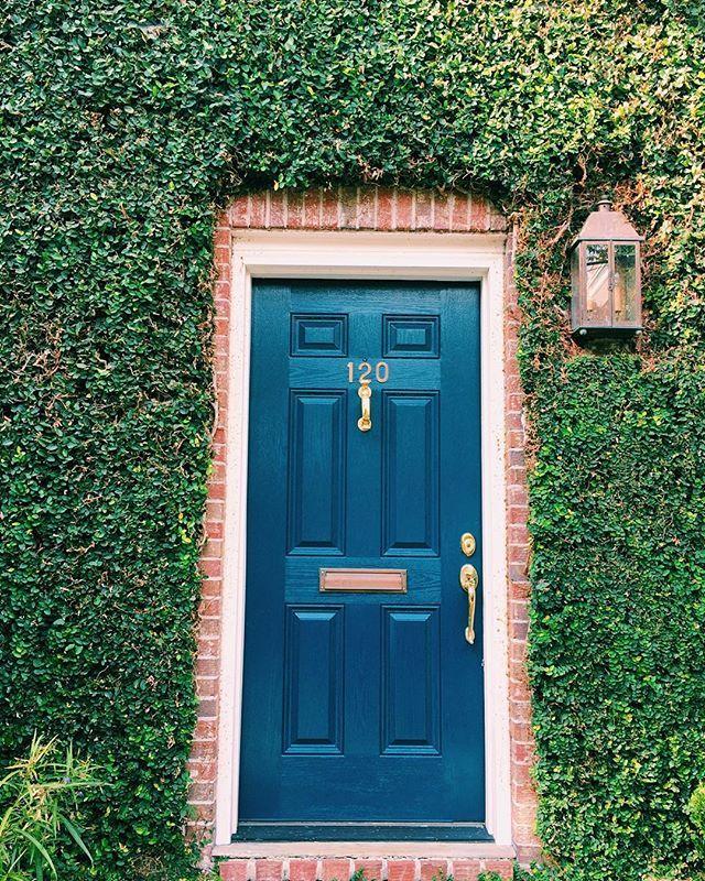 Farrow and Ball, hague blue front door