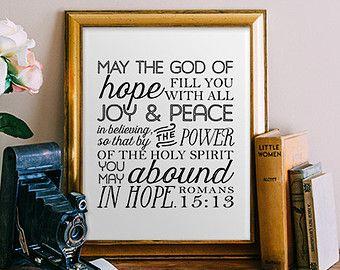 Bible Verse Art print printable Scripture wall by PrintableWisdom
