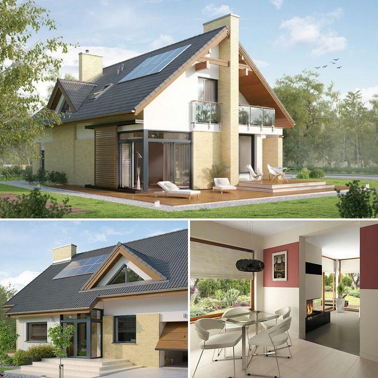 Projekt domu Amber. Pełna prezentacja projektu znajduje się na stronie: https://www.domywstylu.pl/projekt-domu-amber.php #projekty #projekt #projektdomu #projektydomow #projektydomów #projektygotowe #architektura #architecture #design #moderndesign #budujemydom #amber #wnetrza #insides #interiors #domywstylu #mtmstyl