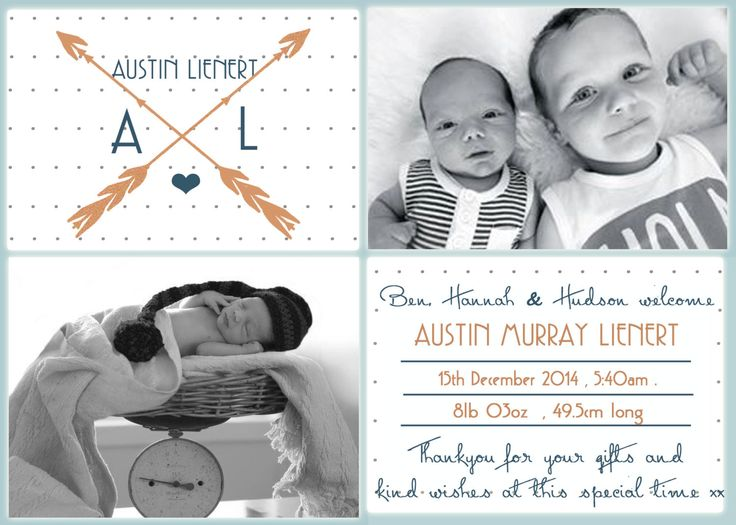 Baby Boy Birth Announcement    ~ PRINT YOURSELF ~ Birth Announcements, Thankyou Cards. Birthday Invitations, Custom Design ~ by LittleFeetInvites on Etsy
