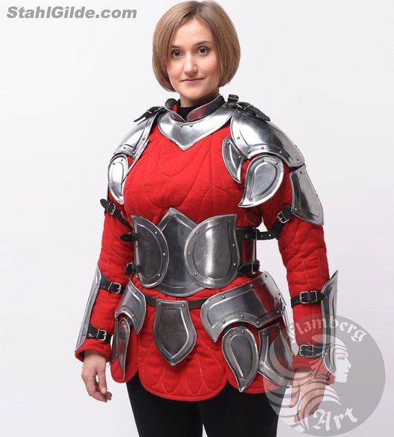 """Armadura de acero de armadura femenina, fantasía, LARP, elfo, elfo traje """"Flamberg"""" para las mujeres: corsé"""