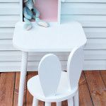 www.bambooko.eu Baby set - bunny chair and table. Handmade from wood. Scandinavian style