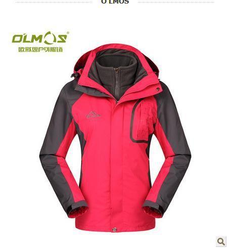 Олмос женщины на открытом воздухе Windbreakers женское зима тепловой куртки кемпинг и пеший туризм Windbreakers куртки