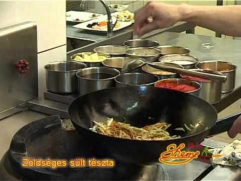 Kínai recept - Zöldséges sült tészta recept