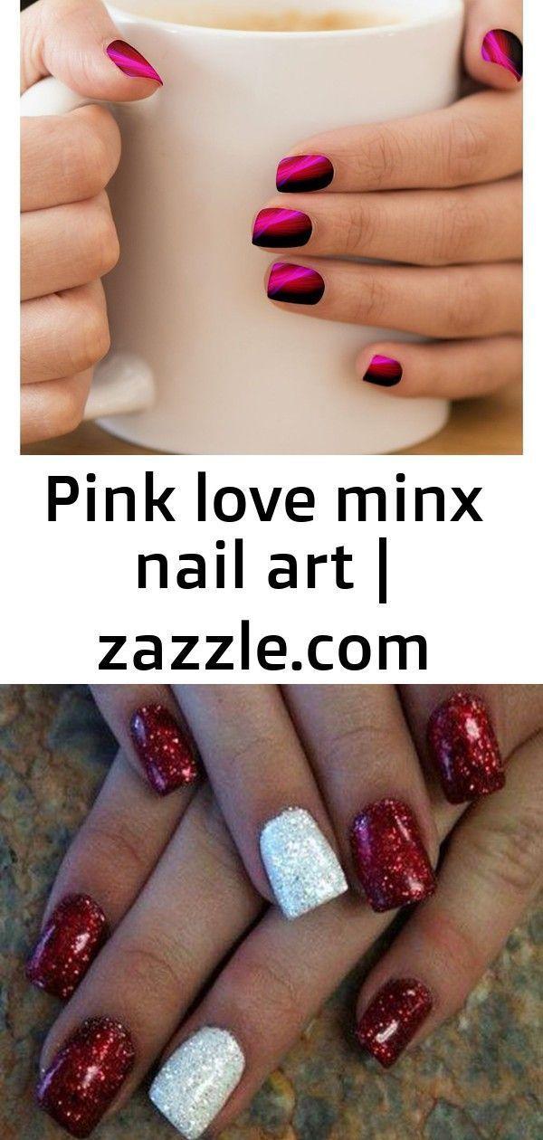 Pink Love Minx Nail Art Nails Minxnail Fashion Style Designs