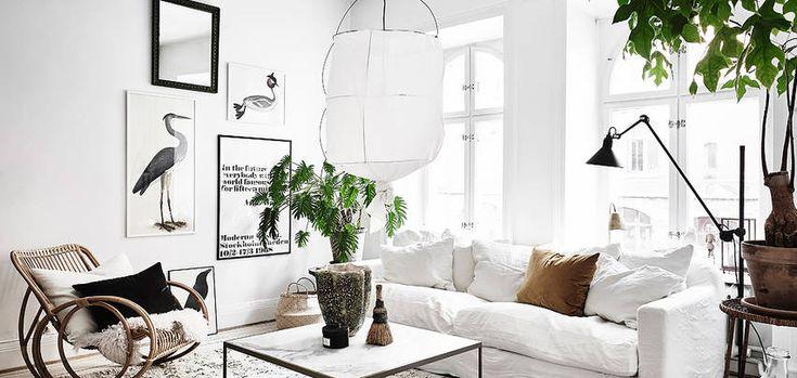 Marmorbord, grön växt