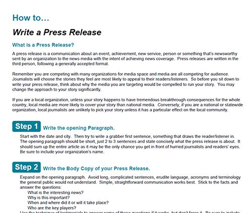 how to write a scientific media release