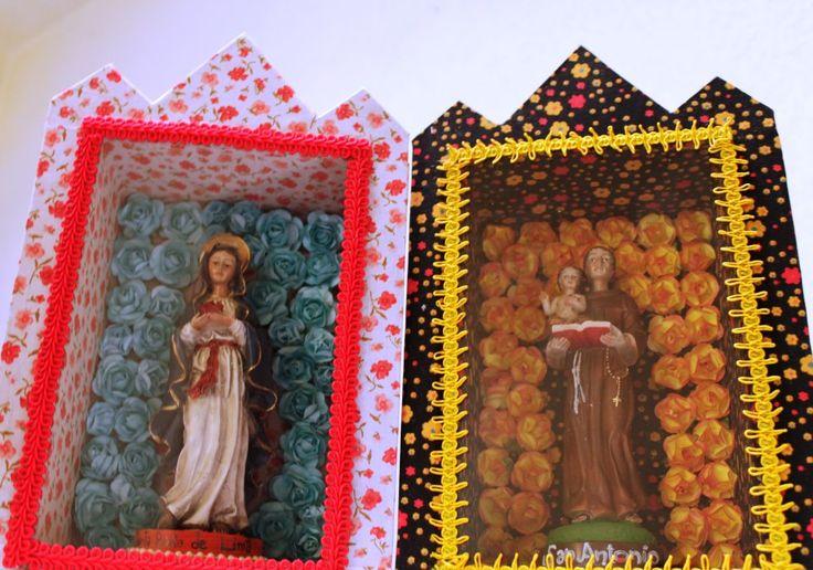 pongamos a nuestros santos a trabajar...;) solo faltan las velas.