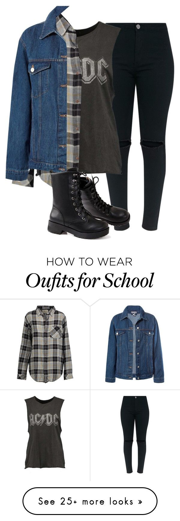 """""""Runaway"""" by witch-16 on Polyvore featuring Current/Elliott, Sans Souci, black, tumblr, rocker and polyvorefashion"""